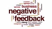 opinião : Negative feedback design animated word cloud, text design animation. Stock Footage