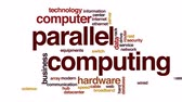 razzia : Parallel computing animated word cloud, text design animation.