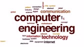 anakart : Computer engineering animated word cloud, text design animation.
