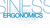 gerinc : Ergonomics animated word cloud, text design animation. Kinetic typography.