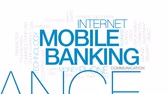 mobility : Mobile banking animated word cloud, text design animation. Kinetic typography.