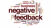 evaluation : Negative feedback design animated word cloud, text design animation. Stock Footage