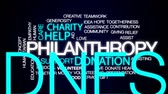 humanitarian : Dating service animated word cloud, text design animation. Stock Footage