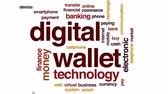 wallet : Digital wallet animated word cloud, text design animation. Stock Footage