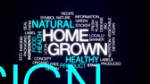 grown : Homegrown animated word cloud, text design animation.