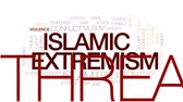 radical : Islamic extremism animated word cloud, text design animation. Kinetic typography.
