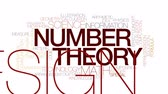 вычисление : Number theory animated word cloud, text design animation. Kinetic typography.