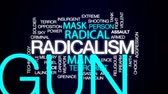 radical : Radicalism animated word cloud, text design animation.