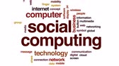 mobility : Social computing animated word cloud, text design animation.