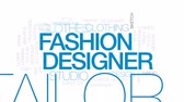 manequim : Fashion designer animated word cloud, text design animation. Kinetic typography. Vídeos