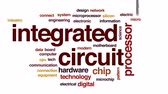 electronics industry : Integrated circuit architecture animated word cloud, text design animation. Stock Footage