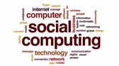 mobilidade : Social computing animated word cloud, text design animation.