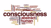consciência : Consciousness animated word cloud, text design animation. Vídeos