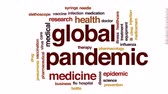 szczepionka : Global pandemic animated word cloud, text design animation. Wideo