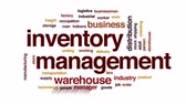 soupis : Inventory management animated word cloud, text design animation. Dostupné videozáznamy