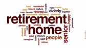deficientes : Retirement home animated word cloud, text design animation. Vídeos