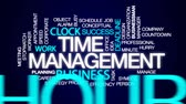 minutos : Time management animated word cloud, text design animation.