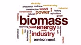 отопление : Biomass animated word cloud, text design animation.