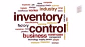 scanner : Inventory control animated word cloud, text design animation.