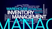 inventário : Inventory management animated word cloud, text design animation. Stock Footage