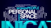 время приема пищи : Personal space animated word cloud, text design animation.