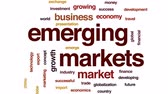 exportação : Emerging markets animated word cloud, text design animation. Stock Footage