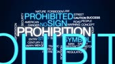 cuidado : Prohibition animated word cloud, text design animation.