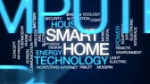 termostat : Smart home animated word cloud, text design animation.