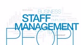 social worker : Staff management animated word cloud, text design animation. Kinetic typography.