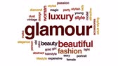 přídatný : Glamour animated word cloud, text design animation.