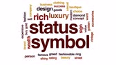 butik : Status symbol animated word cloud, text design animation.