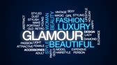 expensive : Glamour animated word cloud, text design animation.