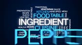 parmazán : Ingredient animated word cloud, text design animation. Dostupné videozáznamy