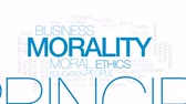 słownik : Morality animated word cloud, text design animation. Kinetic typography.