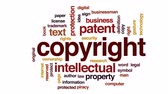 escritor : Copyright animated word cloud, text design animation. Stock Footage