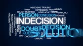 decide : Indecision animated word cloud, text design animation.