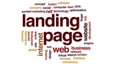 conversion : Landing page animated word cloud, text design animation. Stock Footage