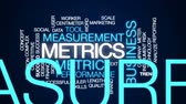 метрика : Metrics animated word cloud, text design animation.