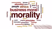 ethics : Morality animated word cloud, text design animation.