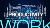 Результаты : Productivity animated word cloud, text design animation. Стоковые видеозаписи