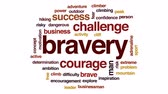 encorajamento : Bravery animated word cloud, text design animation. Vídeos