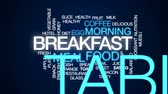 kruvasan : Breakfast design animated word cloud, text design animation.