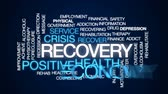 kryzys : Recovery animated word cloud, text design animation.