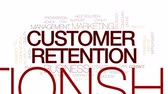 závazek : Customer retention animated word cloud, text design animation. Kinetic typography.