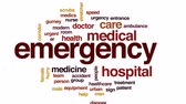 ambulans : Emergency animated word cloud, text design animation. Stok Video