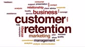 závazek : Customer retention animated word cloud, text design animation.
