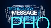 texting : Message animated word cloud, text design animation. Stock Footage