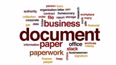 burocracia : Document animated word cloud, text design animation. Stock Footage