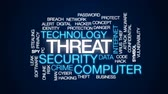 угроза : Threat animated word cloud, text design animation. Стоковые видеозаписи