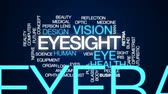 зрелище : Eyesight animated word cloud, text design animation. Стоковые видеозаписи